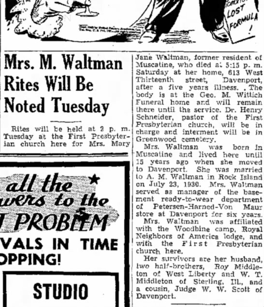 Mary Jane Waltman Obir