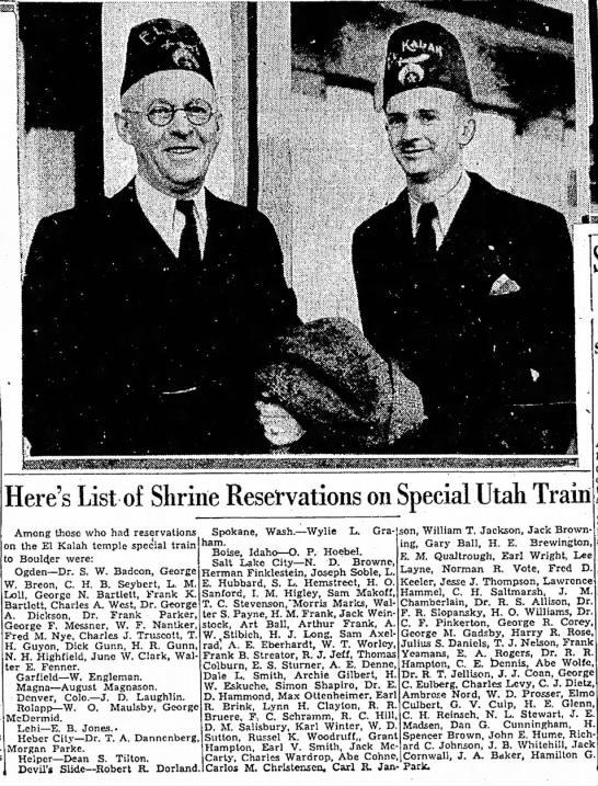 C. H. Reinsch - i: Here's List of Shrine Reservations on...