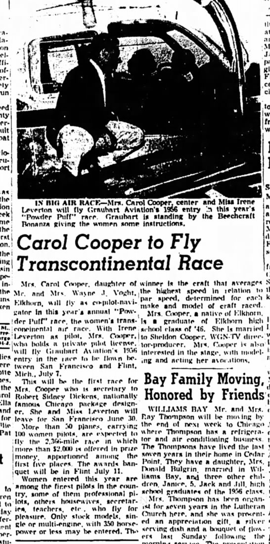 1956-Janesville Daily Gazette - on of- run: i boat the the first) 'hei m - __...
