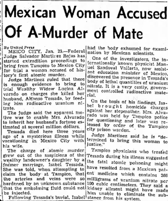 El Paso Herald-Post (Texas), 25 January 1954, p  10.