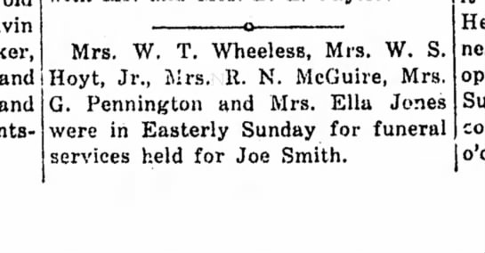 - and! and Mrs. W. T. WheelesB, Mrs. W. S. Hoyt,...