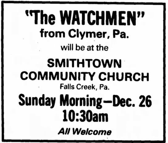 Falls Creek PA Dec 23 1976
