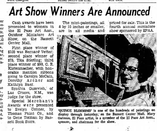 May 12, 1972 - in Art Show Winners Are Announced Cash awards...