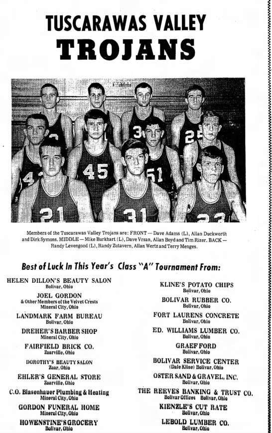 Dover Daily Reporter February 18 1969 - TUSCARAWAS VALLEY TROIANS • i ;• i Members of...