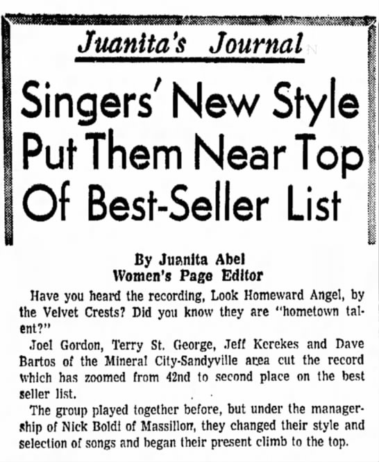 Dover daily Reporter March 6 1969 DONE - Juanlta's Journal Singers' New Style Put Them...