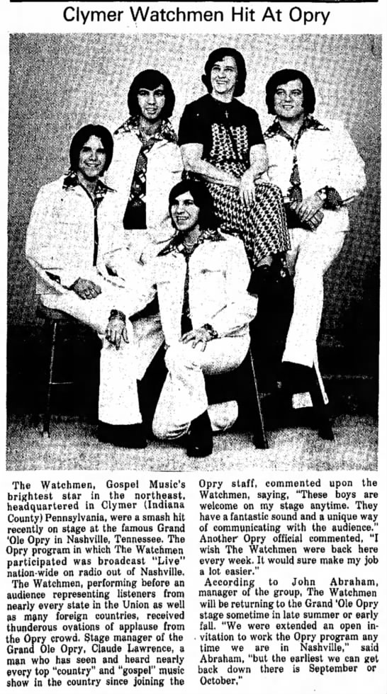 Opry Dubois Paper July 16 1974