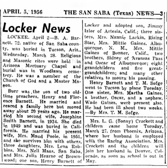 - APRIL 5, 1956 THE SAN SABA (Texas) NEWS—3...