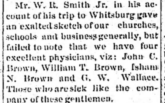 - Mr. W. It. Smith Jr. in his account account of...