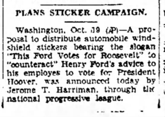JTH Roosevel 10-19-1932