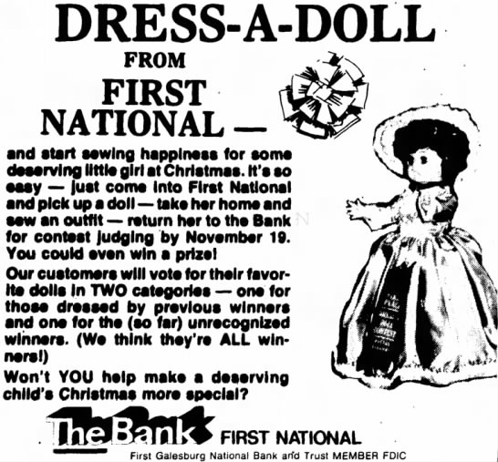 - DRESS-A-DOLL FROM FIRST NATIONAL — and start...