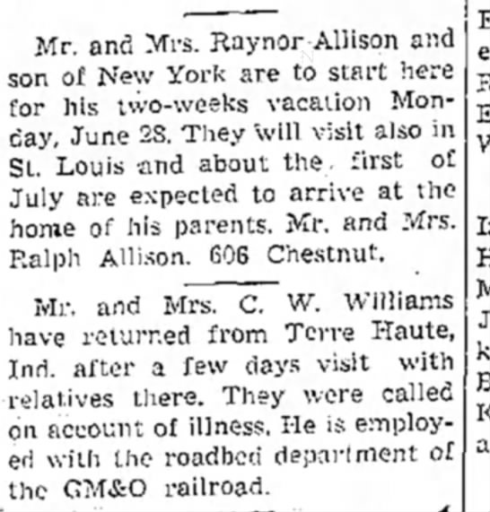 Raynor and Ceil Allison visit Mboro from NY