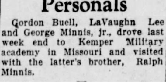 11 Oct 1929 - Gordon Buell, LaVaughn Lee and George Mlnnls,...