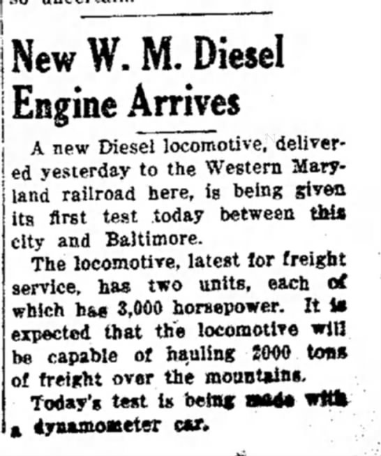 new diesels01 - j — — New W. M. Diesel Engine Arrives A new...