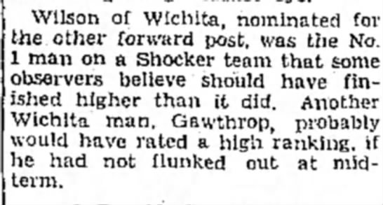 Gaw - Wilson of Wichita, nominated for the other...