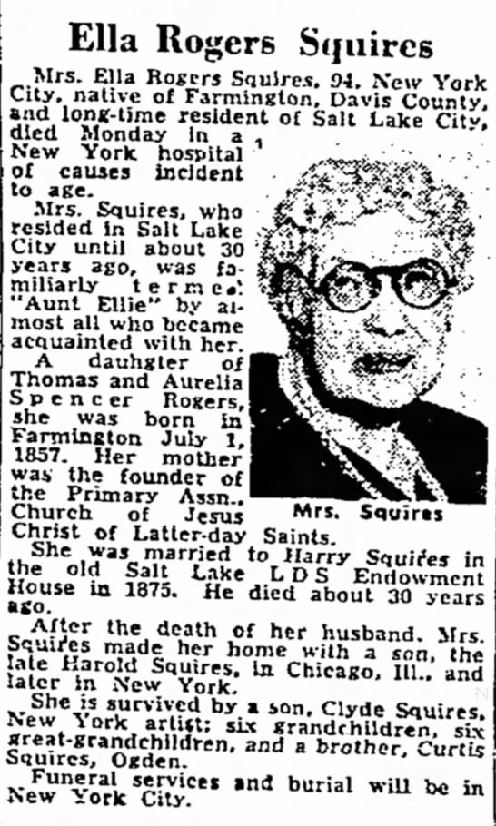 Ella Rogers Squires - Ella Rogers Squires Mrs. Ella Rogers Squires....