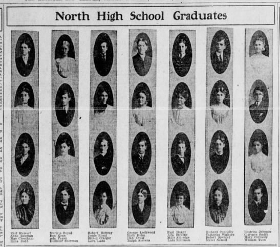 North High School graduates, 1905