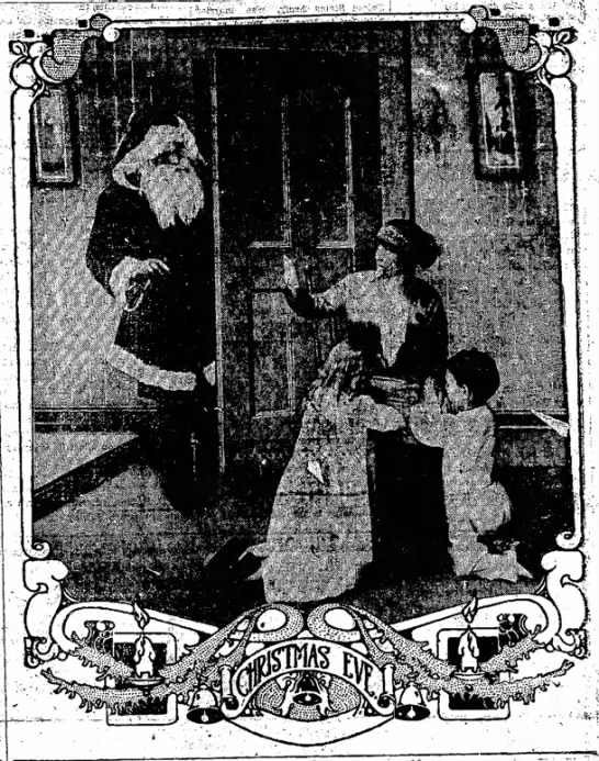 Santa, kids, and Christmas Eve 1917