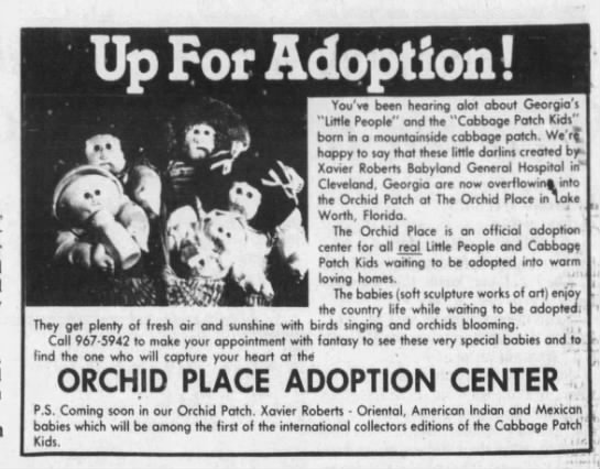 Cabbage Patch Kids ad, 1983 - You've been hearing a lot about Georgia's...