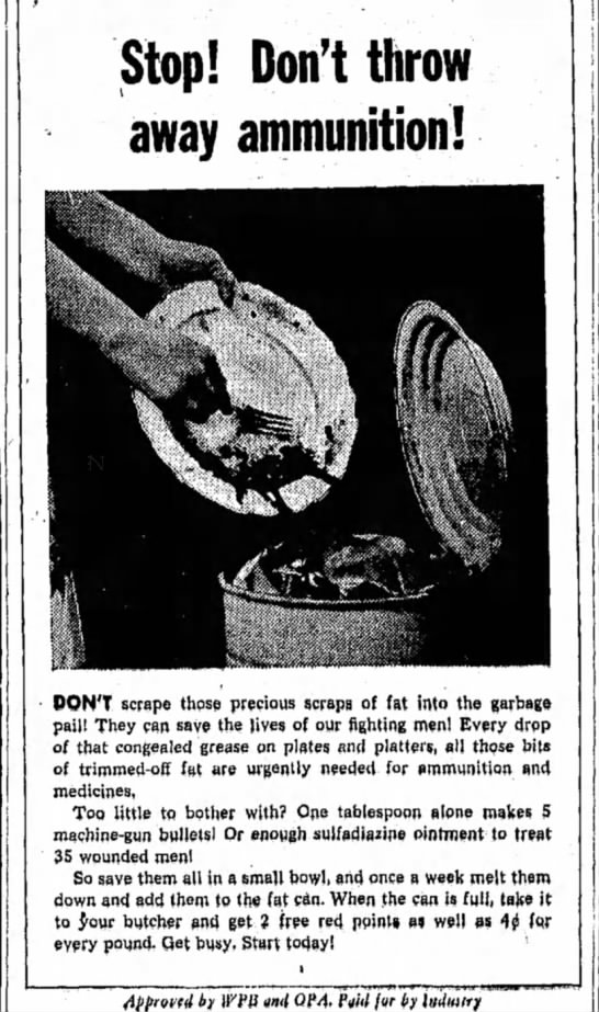 06 Mar 1944 - Stop! Don't throw away ammunition! DON'T scrape...