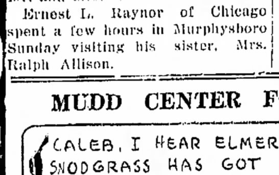 Ernie visits Mary