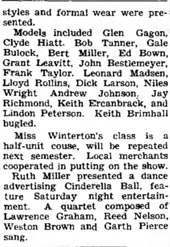 19 November 1937 part 2 - styles and formal wear were presented....