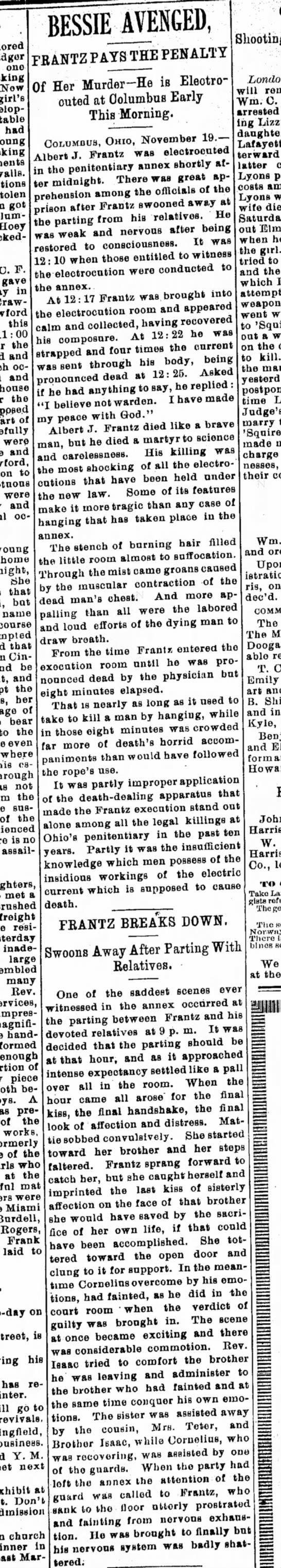 19 Nov. 1897, Xenia Daily Gazette - Now i« » ^ young urn got lloey BESSIE_AVENGED,...