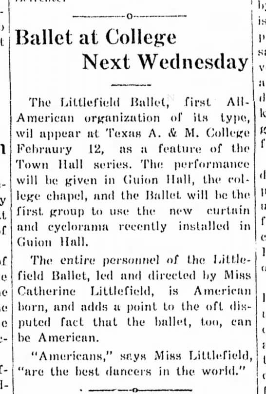 Littlefield Ballet/Texas A&M