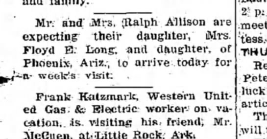 Florence visits from Phoenix