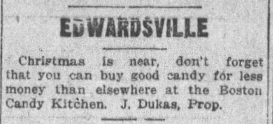 Boston Candy Kitchen 1914 - ' EDi7&HD$yiLlE ChriKtmaa is near, don't forget...