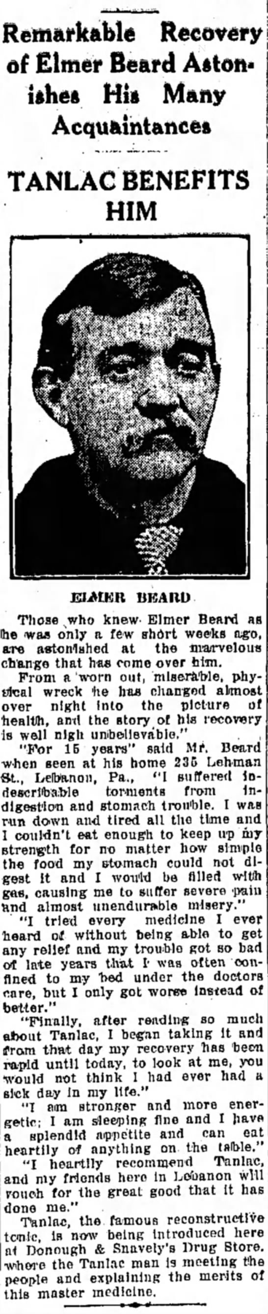 Elmer Beard 1866-1956 - Remarkable Recovery of Elmer Beard Astonishes...