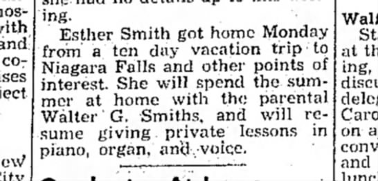 - and cooperate writing. Esther Smith got home...