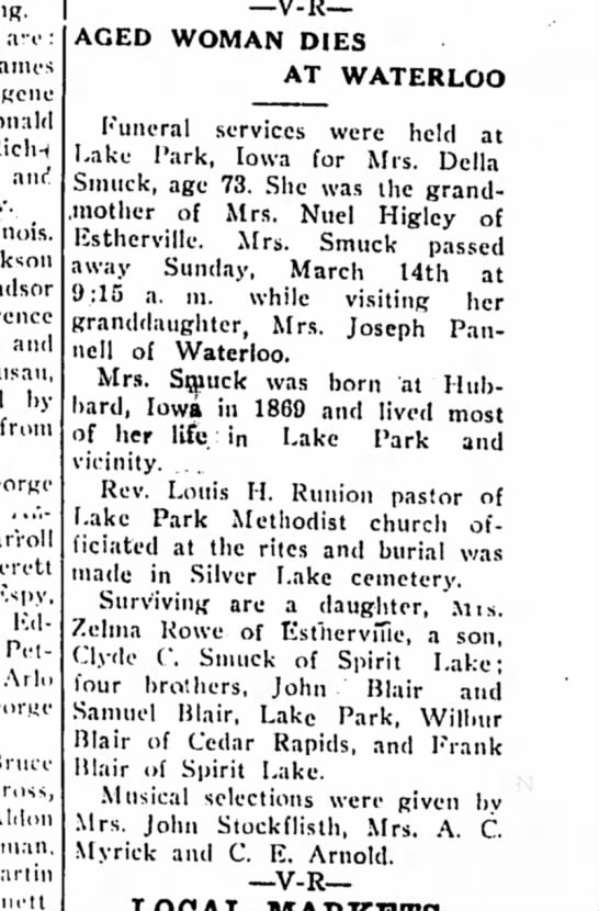 Estherville Daily News (Iowa) 18 March 1943 - are: Ricln anr! and by from Edwin Petersen,...