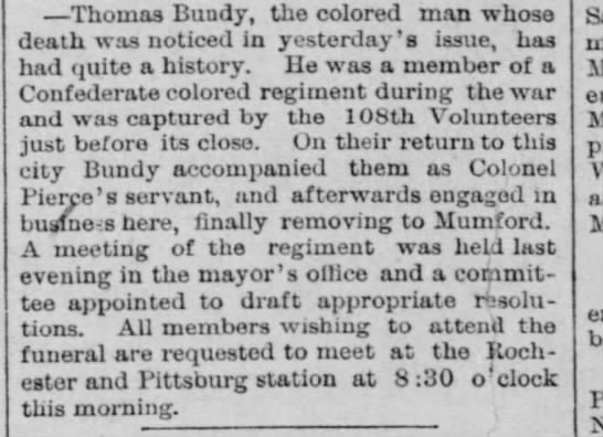 - Thomas Bundy, the colored man whose death was...