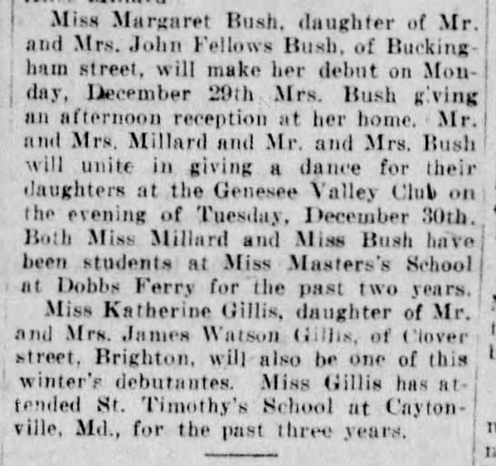 Margaret Emerson Bush - Debut - Miss Margaret Bush, daughter of Mr. and Mrs....