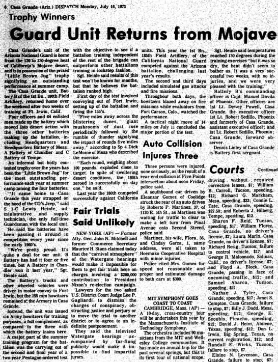 - DISPATCH Monday, July 16,1973 Winners ard Unit...