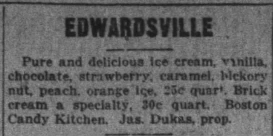 Boston Candy Kitchen 1915 - VILLE Pure and delicious Ice cream, vnil!a,...