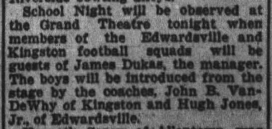 School Night at the Grand 1929 - School Night will be observed at tha Grand...