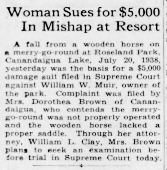 roseland - Woman Sues for $5,000 In Mishap at Resort A...