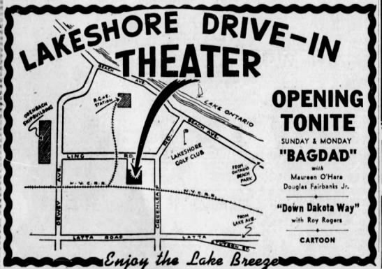 Lakeshore Drive-In opening - r ex MVP 9 . . - ' V At OPENING TONITE SUNDAY I...