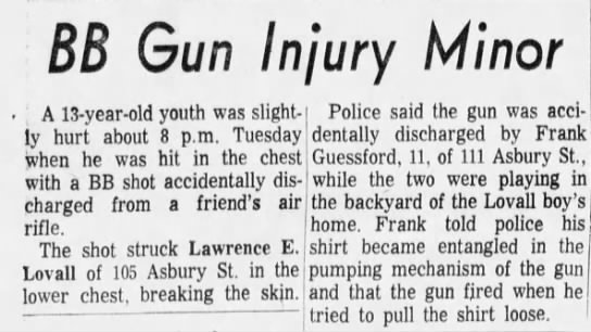 Frank and Larry - BB Gun Injury Minor : A 13-year-old 13-year-old...