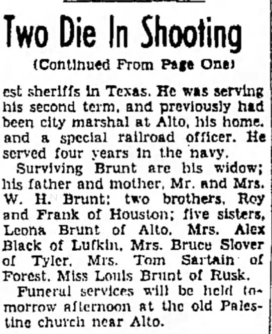 - Two Die In Shooting (Continued From Page One)...