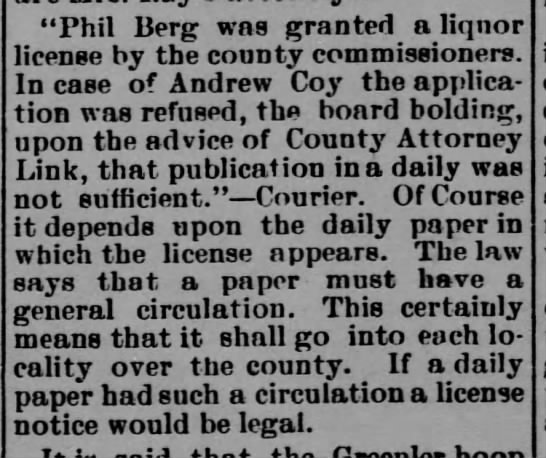 A coy Legal - Phil Berg was granted aliqnor license by the...