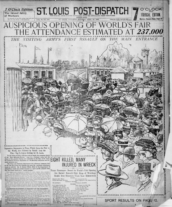 1904: The opening of the World's Fair