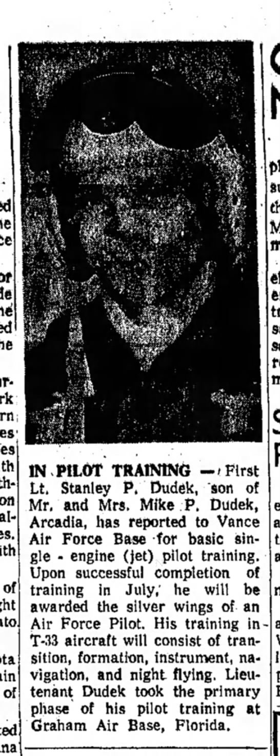 Friday, February 27, 1959 - of of ' IN PILOT TRAINING -/First Lt. Stanley...