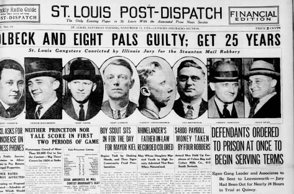 Nov. 15, 1924 Post-Dispatch front page
