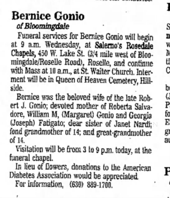 bernice gonio