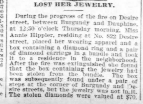 Hippler Annie 1898 stolen jewelry - n m sboul- 7 LOST HER JEWELRY. Pnr'.mr the...