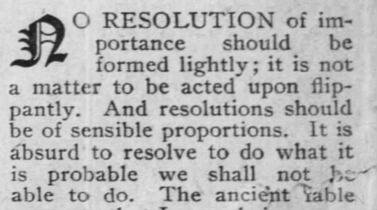 Advice on Resolutions, 1910 - O RESOLUTION of im portance should be formed...