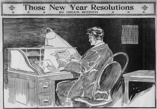 """Those New Year Resolutions,"" 1910"