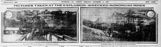 The two mines where the Monongah disaster occured - ESTABLISHED 1884 PITTSBURG. . PA., ' SUNDAY...